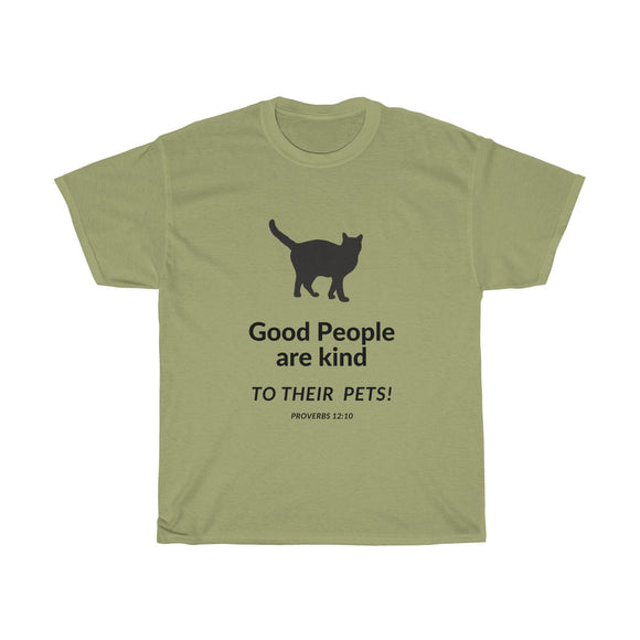 Good People Love Cats Tee