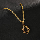 Israel Star Hexagram Necklace Christians for Israel