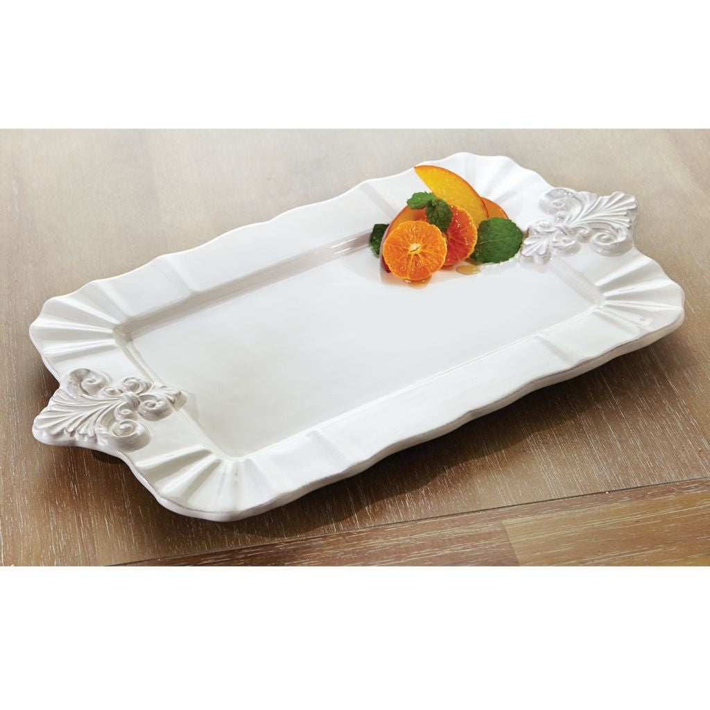 Ceramic rectangle serving platter