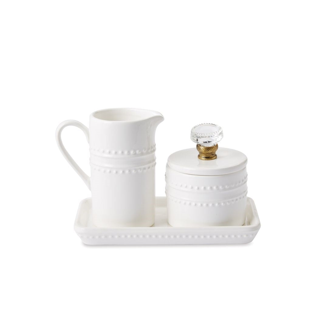 Creamer pitcher and sugar pot