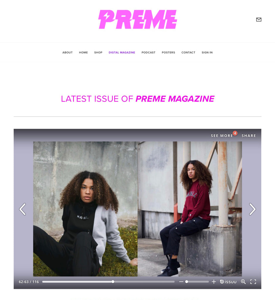 FW : '18 FEATURED IN PREME MAGAZINE