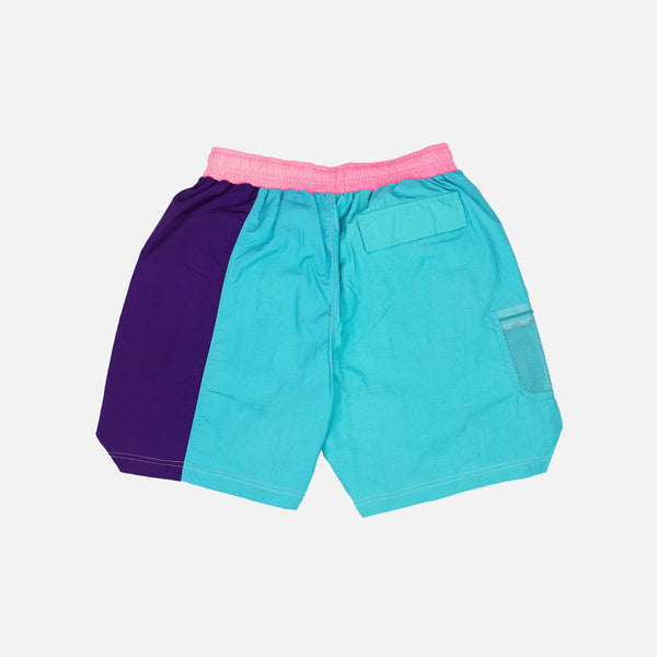 SPLIT NYLON SHORT - TEAL