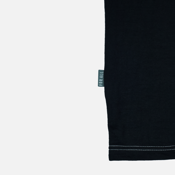 CHAIN STITCH T-SHIRT - BLACK