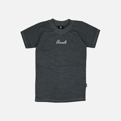 CHAIN STITCH T-SHIRT - HEATHER GREY