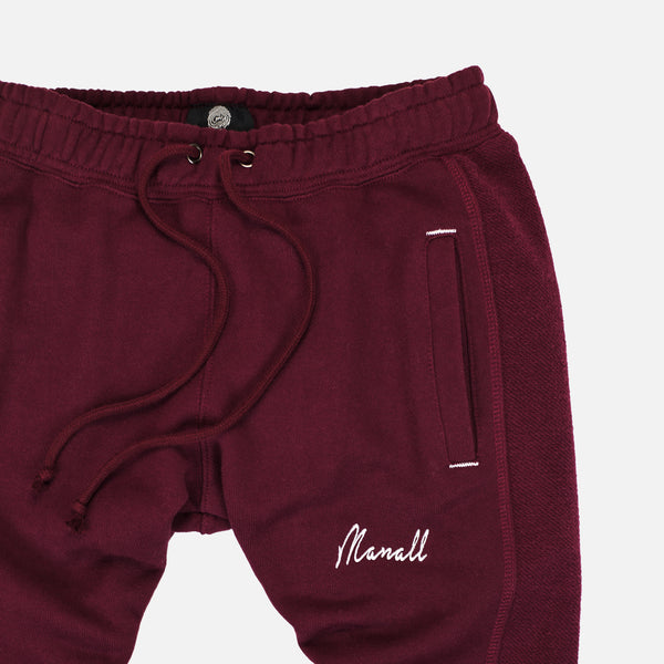 REVERSE PANEL SWEATPANT - MAROON