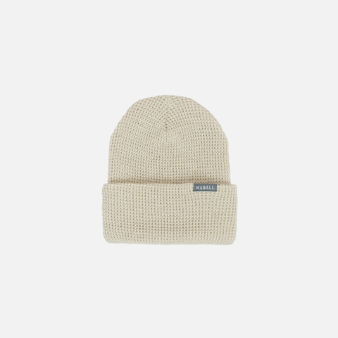WAFFLE KNIT BEANIE - NATURAL