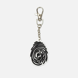 THUMBPRINT RUBBER KEYCHAIN - BLACK/WHITE