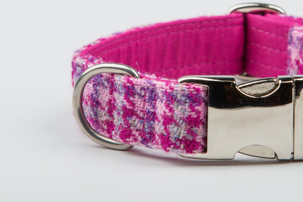 NEW - Harris Tweed Cerise Houndstooth