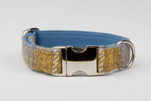 Load image into Gallery viewer, Harris Tweed Collar Mustard & Blue