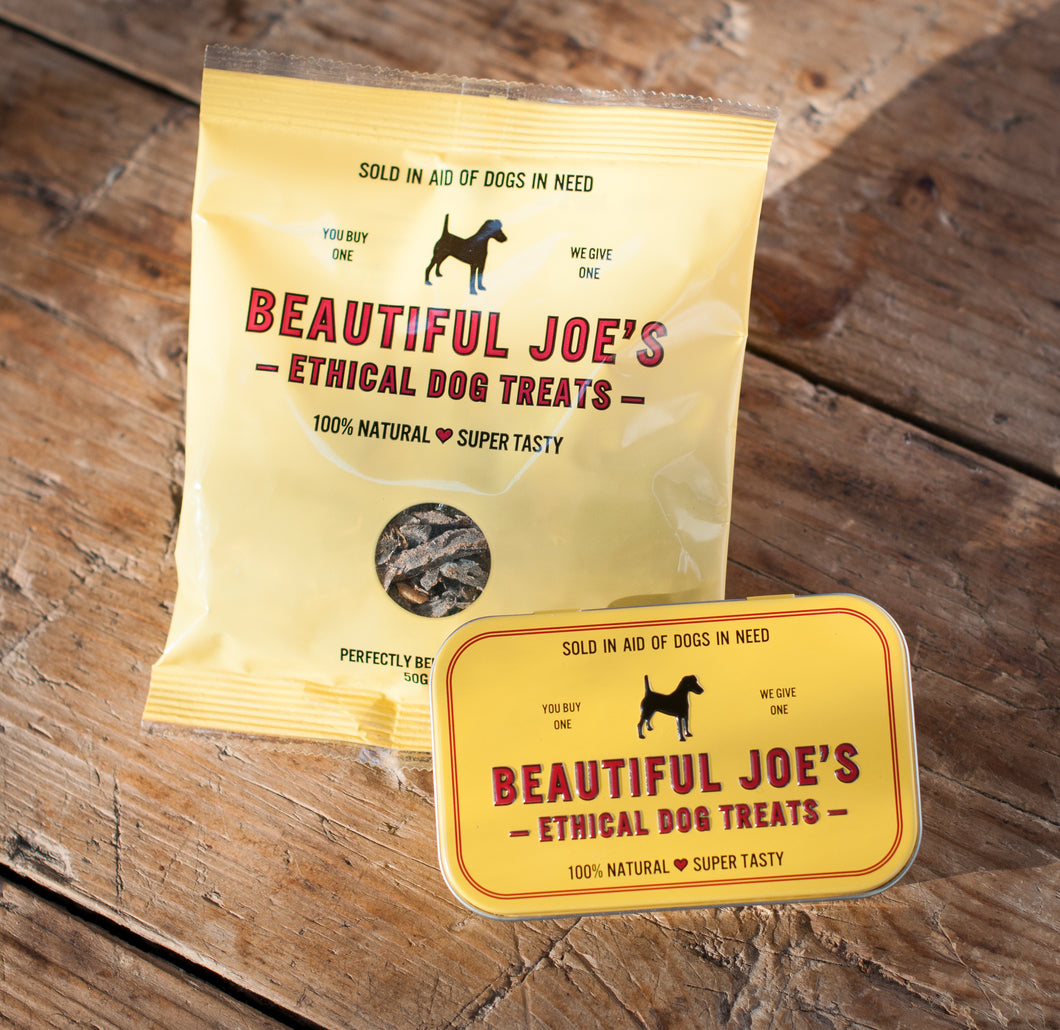 Beautiful Joe's Ethical Dog Treat Tin (Tin Only)