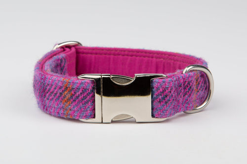 Harris Tweed Collar Pretty Pink Check