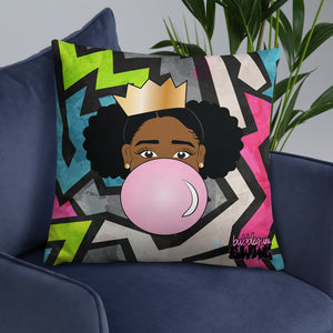 Bubble Gum Swag Throw Pillow