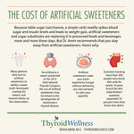 The cost of artificial sweeteners