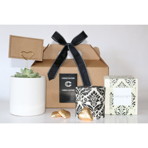 Succulent and Candle Gift Pack (Medium)