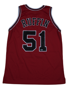 Michael Ruffin Autographed Chicago Bulls Jersey
