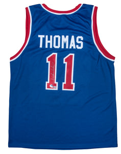 Isiah Thomas Autographed Detroit Pistons Blue Road Jersey