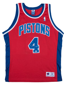 Joe Dumars Autographed Detroit Pistons Red Alternate Jersey