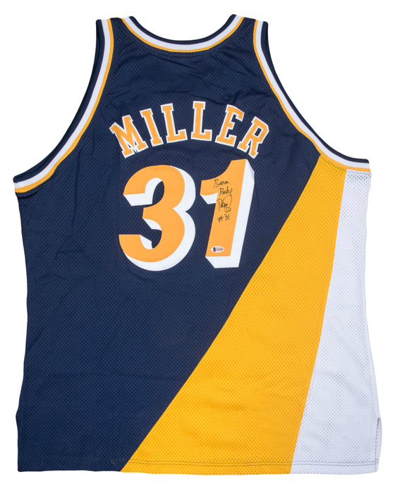 Reggie Miller Autographed Indiana Pacers Jersey