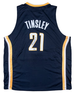 Jamal Tinsley Signed Indiana Pacers Jersey