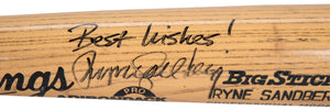1989 Ryne Sandberg Game Ready & Signed Rawlings 256B Model Bat