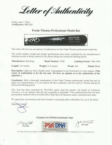1998-1999 Frank Thomas Game Used & Signed Rawlings 576B Model Bat