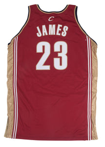 2003-04 LeBron James Game Used Cleveland Cavaliers Rookie Season Road Jersey