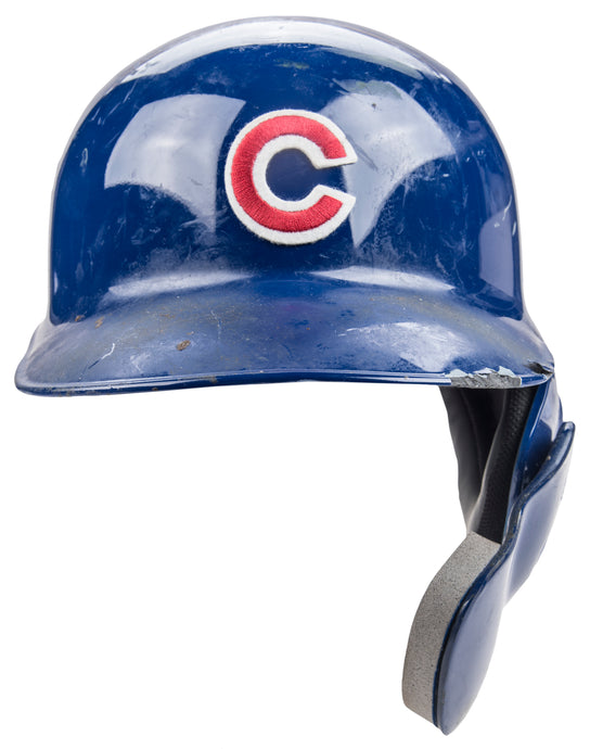 2018 Kris Bryant Game Used Chicago Cubs Batting Helmet With C-Flap Photo Matched To Career Home Run #102