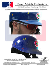 Load image into Gallery viewer, 2018 Kris Bryant Game Used Chicago Cubs Batting Helmet With C-Flap Photo Matched To Career Home Run #102