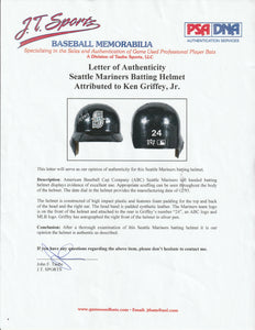 1994 Ken Griffey Jr. Game Used & Signed Seattle Mariners Batting Helmet