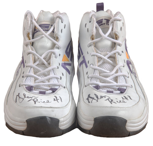 Glen Rice Game Used & Signed Sneakers