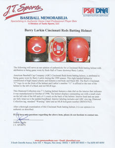 1999 Barry Larkin Game Used Cincinnati Reds Batting Helmet