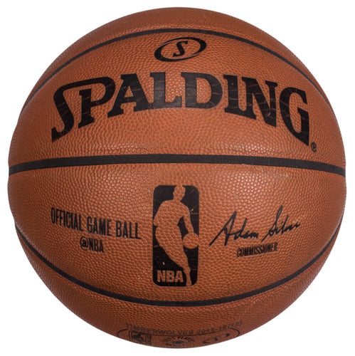 2015 Minnesota Timberwolves & Golden State Warriors Game Used Spalding Basketball Photo Matched To 4 Games
