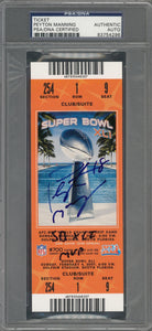 "2007 Peyton Manning Signed Superbowl XLI Full Ticket with ""SB XLI MVP"" Inscription"