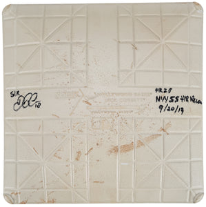 Didi Gregorius Signed and Inscribed Game Used Base