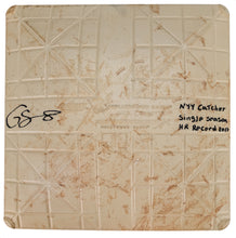 Load image into Gallery viewer, Gary Sanchez Signed and Inscribed Game Used Base