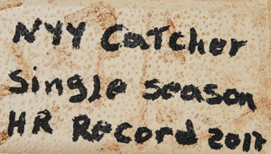 Gary Sanchez Signed and Inscribed Game Used Base