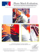 Load image into Gallery viewer, 2015 AJ Green Game Used & Signed Cincinnati Bengals Road Jersey Photo Matched To 12/28/2015