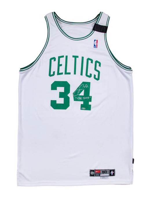 2000-2001 Paul Pierce Game Used and Signed Boston Celtics Home Jersey with Dorothy