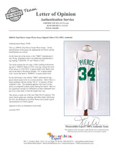 "Load image into Gallery viewer, 2000-2001 Paul Pierce Game Used and Signed Boston Celtics Home Jersey with Dorothy ""Dot"" Auerbach Memorial Band"