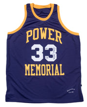"Load image into Gallery viewer, Kareem Abdul-Jabbar Autographed Power Memorial ""Alcindor"" Replica Jersey"