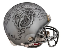 Load image into Gallery viewer, Miami Dolphins Legends and Greats Multi-signed Authentic Pewter Helmet with 17 Signatures Including Marino, Griese, Csonka and more
