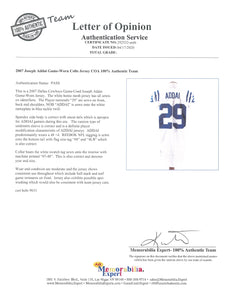 2007 Joseph Addai Game Used Indianapolis Colts Road Jersey Photo Matched To 11/22/2007