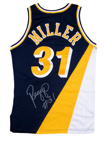 1991-92 Reggie Miller Game Used & Signed Indiana Pacers Flo Jo Road Uniform: Jersey & Shorts
