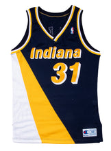 Load image into Gallery viewer, 1991-92 Reggie Miller Game Used & Signed Indiana Pacers Flo Jo Road Uniform: Jersey & Shorts