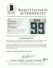 Load image into Gallery viewer, 2016 Joey Bosa Game Used, Signed & Inscribed San Diego Chargers Rookie Jersey Used on November 27, 2016 - Defensive Rookie of the Year!