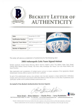 Load image into Gallery viewer, 2005 Indianapolis Colts Team Signed Game Model Helmet with 27 Signatures Including Peyton Manning, Dwight Freeney, and Edgerrin James