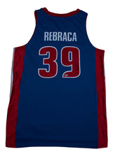 Load image into Gallery viewer, Zeljko Rebraca Signed Detroit Pistons Blue Road Jersey
