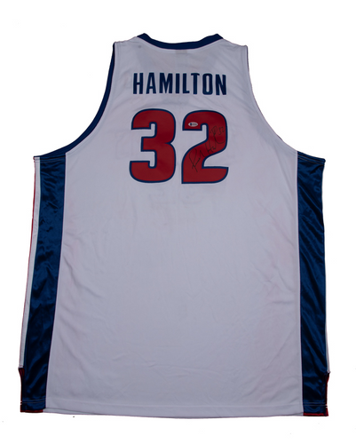 Richard Hamilton Signed Detroit Pistons White Home Jersey