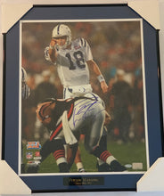 Load image into Gallery viewer, Peyton Manning Autographed Colts Super Bowl XLI Pointing at Line 16x20 Framed Photograph