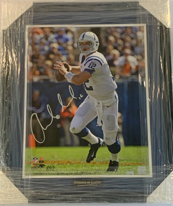 "Andrew Luck Autographed ""Going Deep"" 8 out of 12 16x20 Framed Photograph"